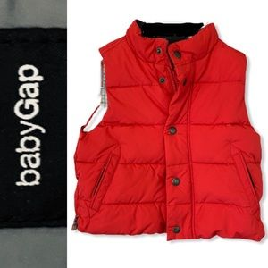 Baby Gap Red Puffer Vest
